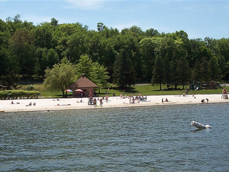 Beach view from lake